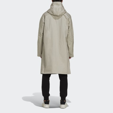 Trench à capuche Y-3 Classic Bonded Racer Beige Hommes Y-3