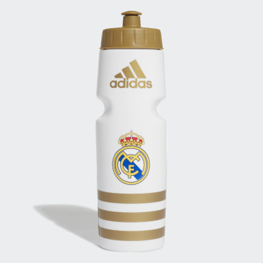 Football White Real Madrid Water Bottle