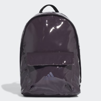 Women Gym & Training Purple Glossy Effect Classic Backpack