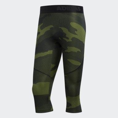 Men Gym & Training Green Alphaskin Tech 3/4 Camo Tights