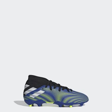Zapatos de fútbol Nemeziz.3 Terreno Firme Azul Niño Fútbol