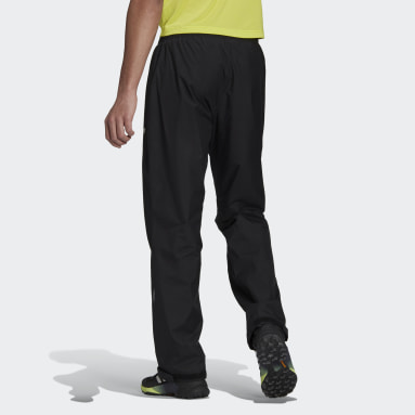 Men TERREX Black Terrex Multi RAIN.RDY Primegreen Two-Layer Rain Tracksuit Bottoms