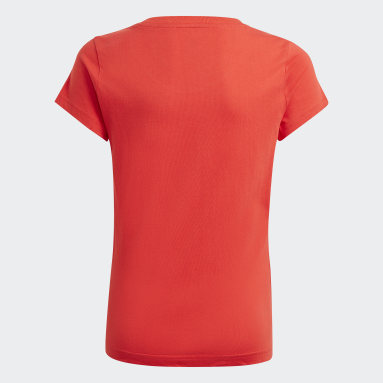 T-shirt adidas Essentials Rouge Filles Sportswear