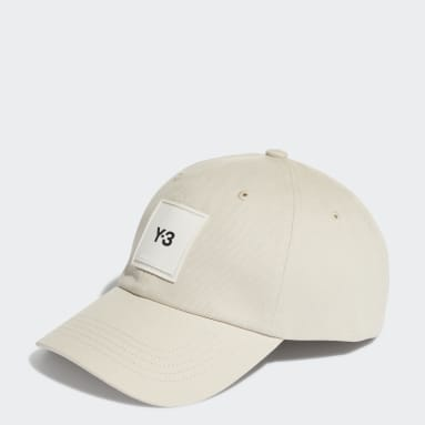 Y-3 Beige Y-3 Square Label Cap