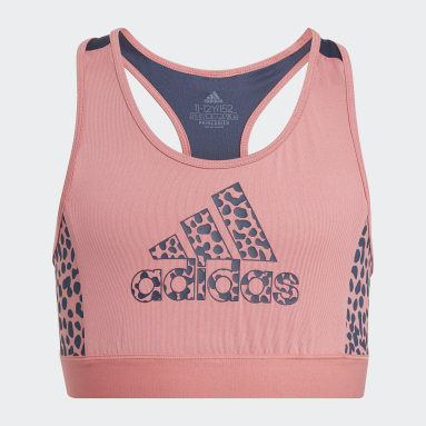 Girls Sportswear Pink adidas Designed To Move Leopard Bra Top