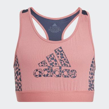 Mädchen Sportswear adidas Designed To Move Leopard Bustier Rosa