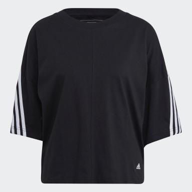 Frauen Sportswear adidas Sportswear Future Icons 3-Streifen T-Shirt Schwarz