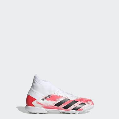 Zapatos de fútbol Predator 20.3 Pasto Sintético Blanco Niño Fútbol