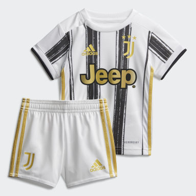 Kinder Fußball Juventus Turin Mini-Heimausrüstung Weiß