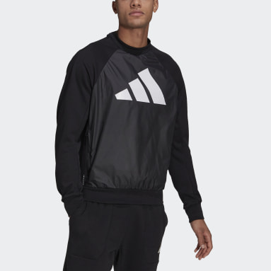 Men Sportswear Black adidas Sportswear Fabric Block Sweatshirt