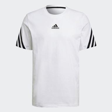 Männer Sportswear adidas Sportswear 3-Streifen Tape T-Shirt Weiß
