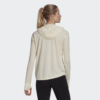 Women's Essentials White AEROREADY Lightweight Long Sleeve Hooded Tee