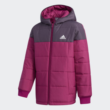 Girls Gym & Training Burgundy Midweight Padded Jacket