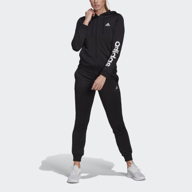 Chándal Essentials Logo French Terry Negro Mujer Sportswear