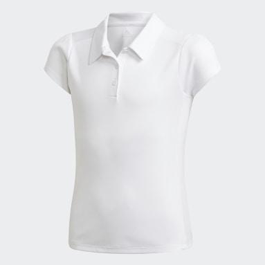 Girls Golf White Polo Shirt