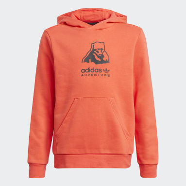 Hoodie adidas Adventure Rosso Bambini Originals