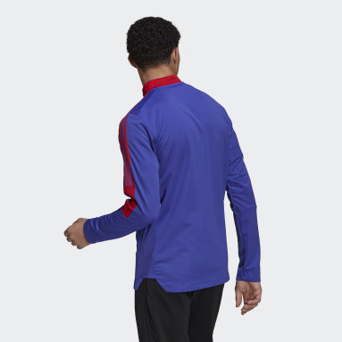 Men's Soccer Purple Tiro Primeblue Track Jacket