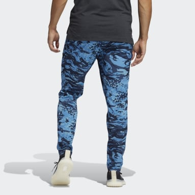 Men's Training Blue Training 3-Stripes Camo Pants