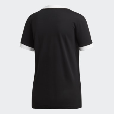Women Originals Black 3-Stripes Tee