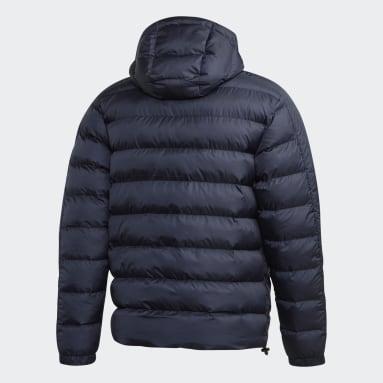 Men City Outdoor Blue Itavic 3-Stripes 2.0 Winter Jacket