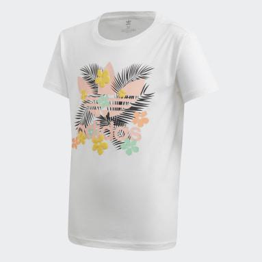Camiseta Slim Branco Meninas Originals