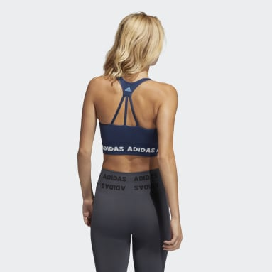 Dames Studio Blauw Training Aeroknit Beha