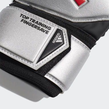 Football Silver Predator Top Training Fingersave Gloves