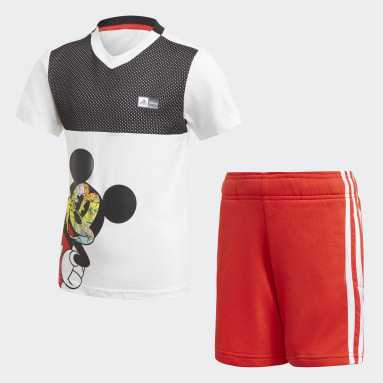 Boys Training White Mickey Mouse Summer Set