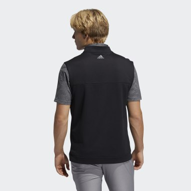 Men Golf Black Club Quarter-Zip Vest