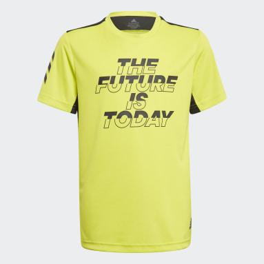 Boys Gym & Training Yellow XFG AEROREADY Primeblue Tee