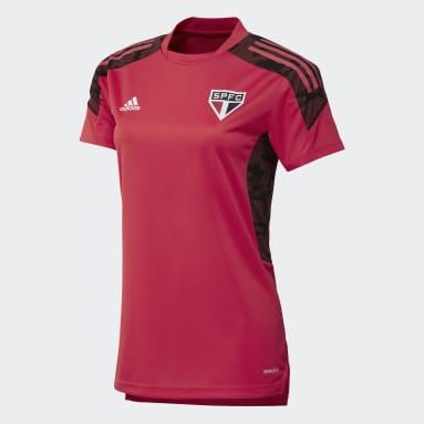 Camisa Treino São Paulo FC Rosa Mulher Futebol