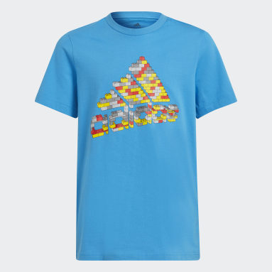 Kluci Cvičení A Trénink modrá Tričko adidas x Classic LEGO® Graphic