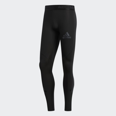 Men's Lacrosse Black Alphaskin Sport 3-Stripes Tights