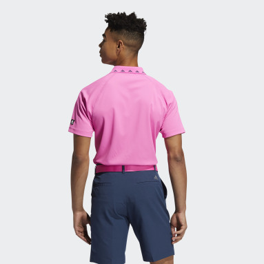 Polo Equipment Zip Piqué Rosa Hombre Golf