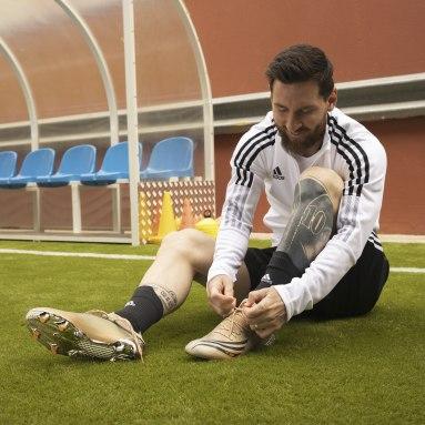 Football Silver X Speedflow Messi.1 Firm Ground Boots