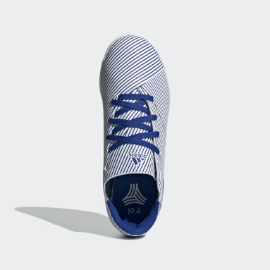 Children Soccer White Nemeziz 19.4 Indoor Shoes