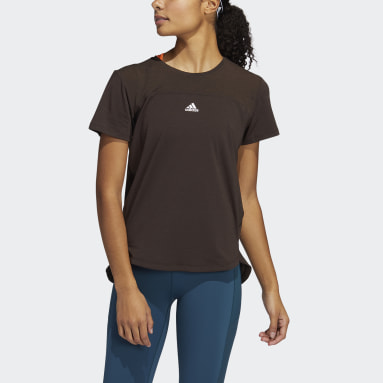 Women Training Brown AEROREADY Tee