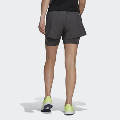 Shorts Designed 2 Move AEROREADY Gris Mujer Training