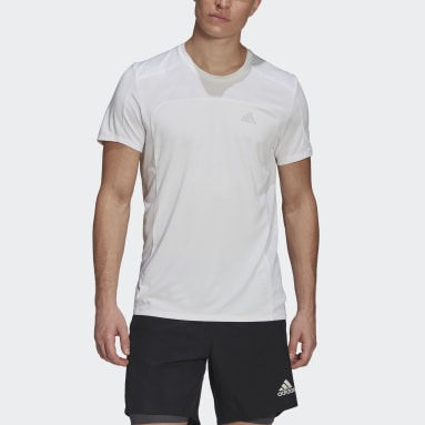 Men's Running White HEAT.RDY Running Tee