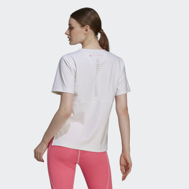 Women adidas by Stella McCartney White adidas by Stella McCartney TRUESTRENGTH Loose Tee