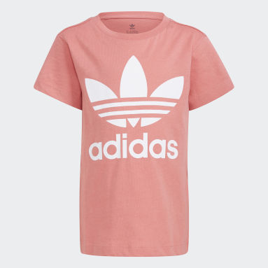 Camiseta Trefoil (UNISSEX) Rosa Kids Originals