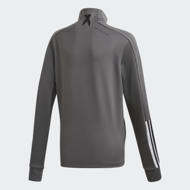 Boys Gym & Training Grey AEROREADY Football-Inspired Track Jacket