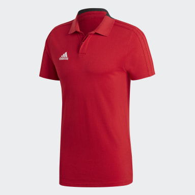 Men Football Red Condivo 18 Cotton Polo Shirt