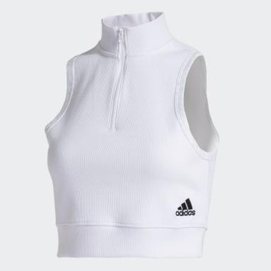 Women Sportswear White ID Tank Top