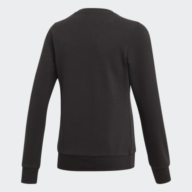 Mädchen Sportswear Linear Sweatshirt Schwarz