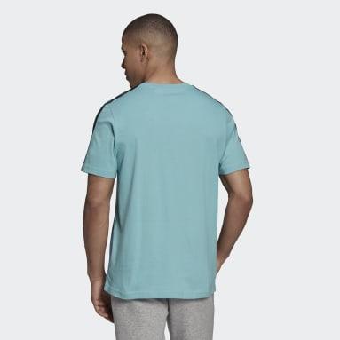 Männer Sportswear Essentials 3-Streifen T-Shirt Grün