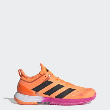 Men Tennis Orange Adizero Ubersonic 4 Tennis Shoes