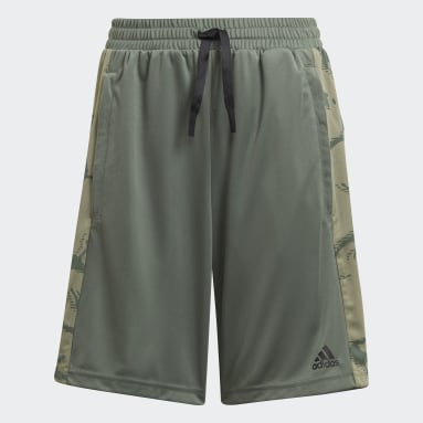 Youth 8-16 Years Sportswear Green adidas Designed To Move Camouflage Shorts