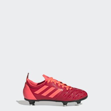Zapatos de Rugby Malice Junior Terreno Suave Rojo Niño Rugby