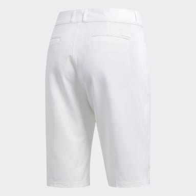 Women Golf White Ultimate Club Bermuda Shorts